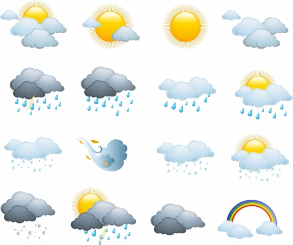 Weather icons day forecast 312341